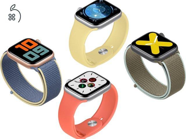 ÚJ BONTATLAN Apple Watch SERIES 5 40-44MM EKG KÉPES AZONNAL DEÁK TÉREN ÁTVEHETŐ
