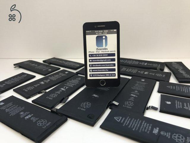iPhone 5S akkumulátor csere 6 hónap garanciával (iSzerelés.hu)