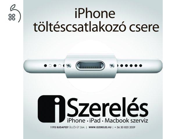 Nem tölt az iPhone-od? A töltéscsatlakozó lehet a hibás. (iSzerelés.hu)