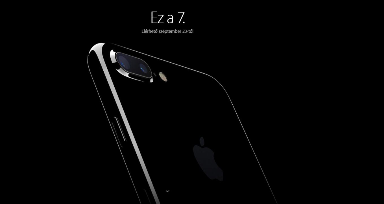 iPhone 7 hivatalos árak