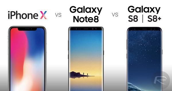 iPhone X Vs Galaxy Note 8 Vs Galaxy S8 és S8+ Benchmark teszt