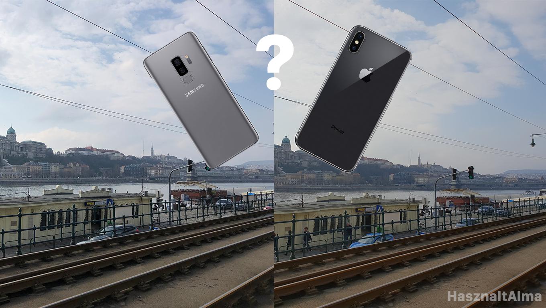 Galaxy S9+ és iPhone X kamera összehasonlítás - eredmények