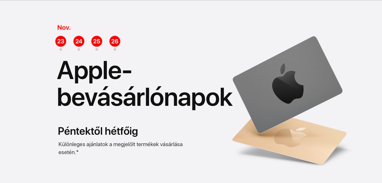Black Friday akció az Apple-nél: kecsegtető ajánlat vagy pofátlan készletkisöprés?
