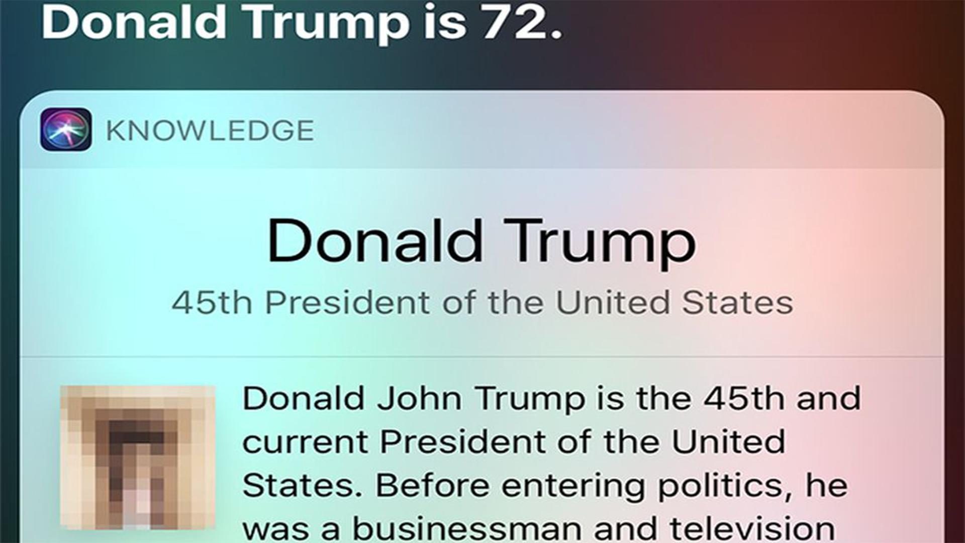 Siri nagyon csúnya dolgokat gondol Donald Trumpról
