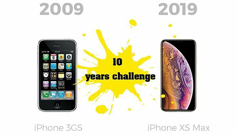 Apple termékek akkor és most: #10yearschallenge