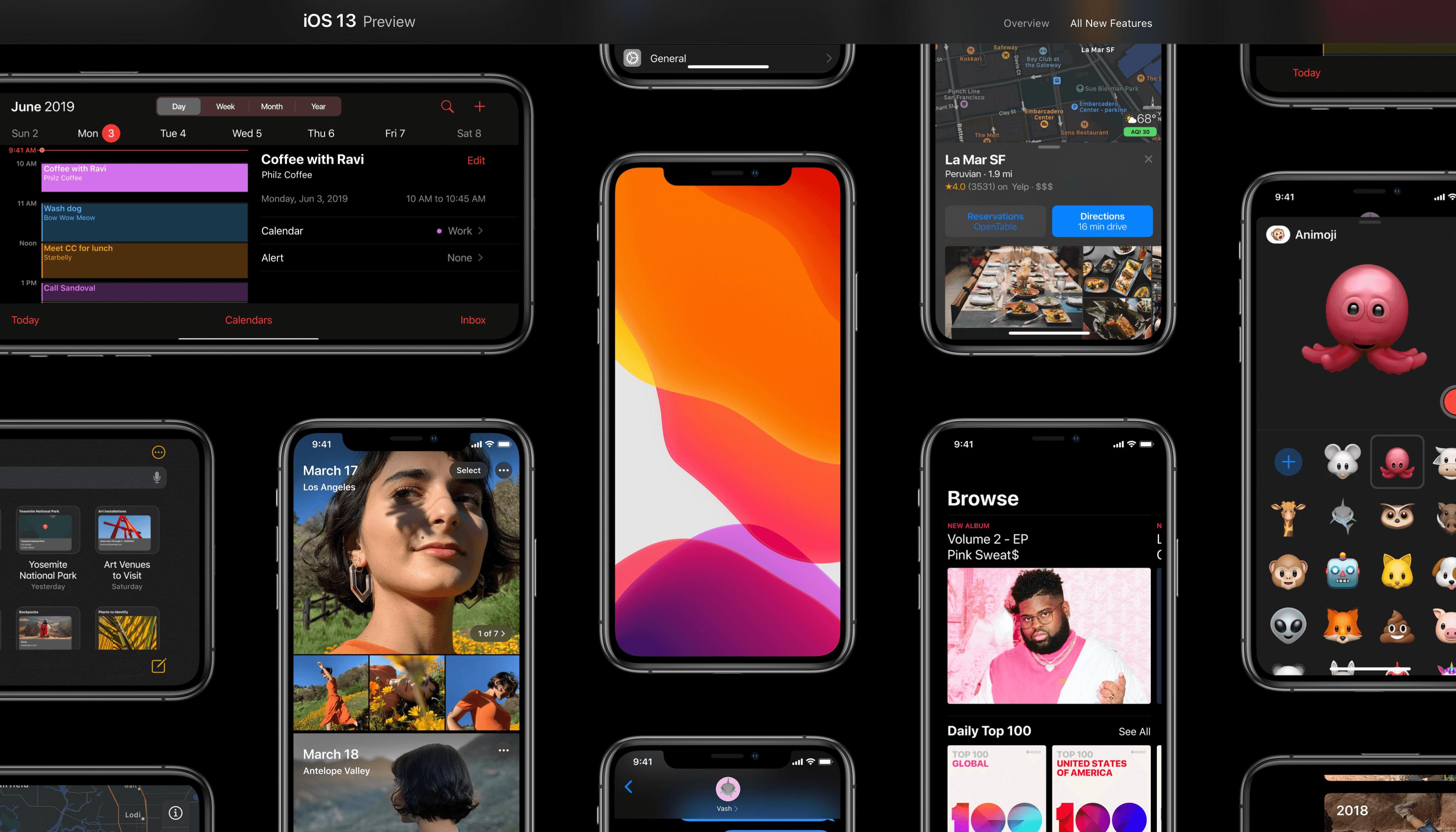 iOS 13 Teszt [fejlesztői béta]
