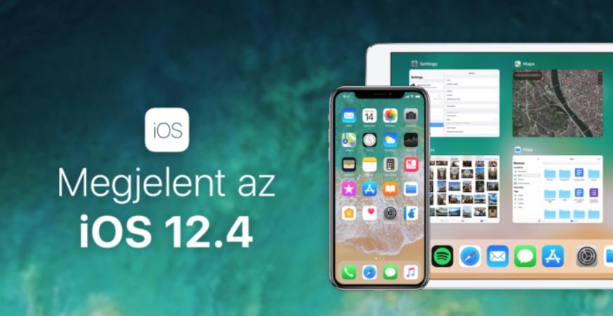 Tegnap este megérkezett az iOS 12.4
