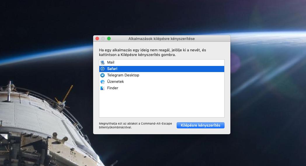 Almás tippek: Alkalmazások kilépésre kényszerítése macOS alatt
