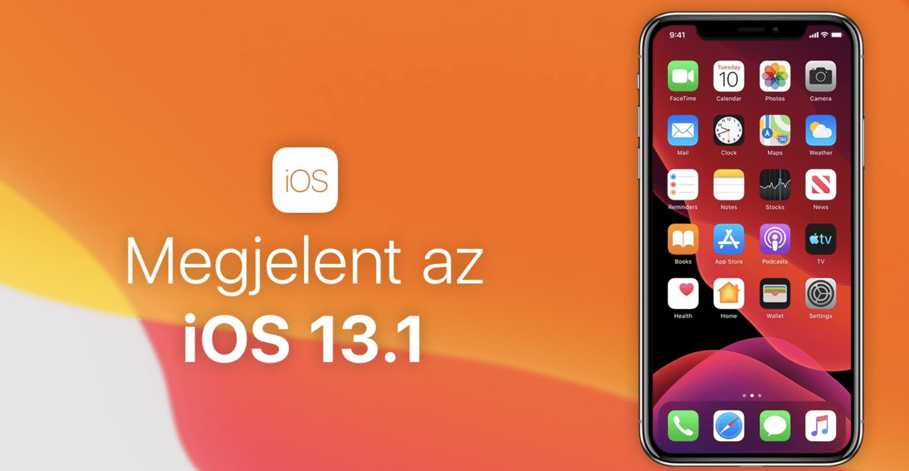 Megérkezett az iOS 13.1 - A letöltés mindenkinek ajánlott