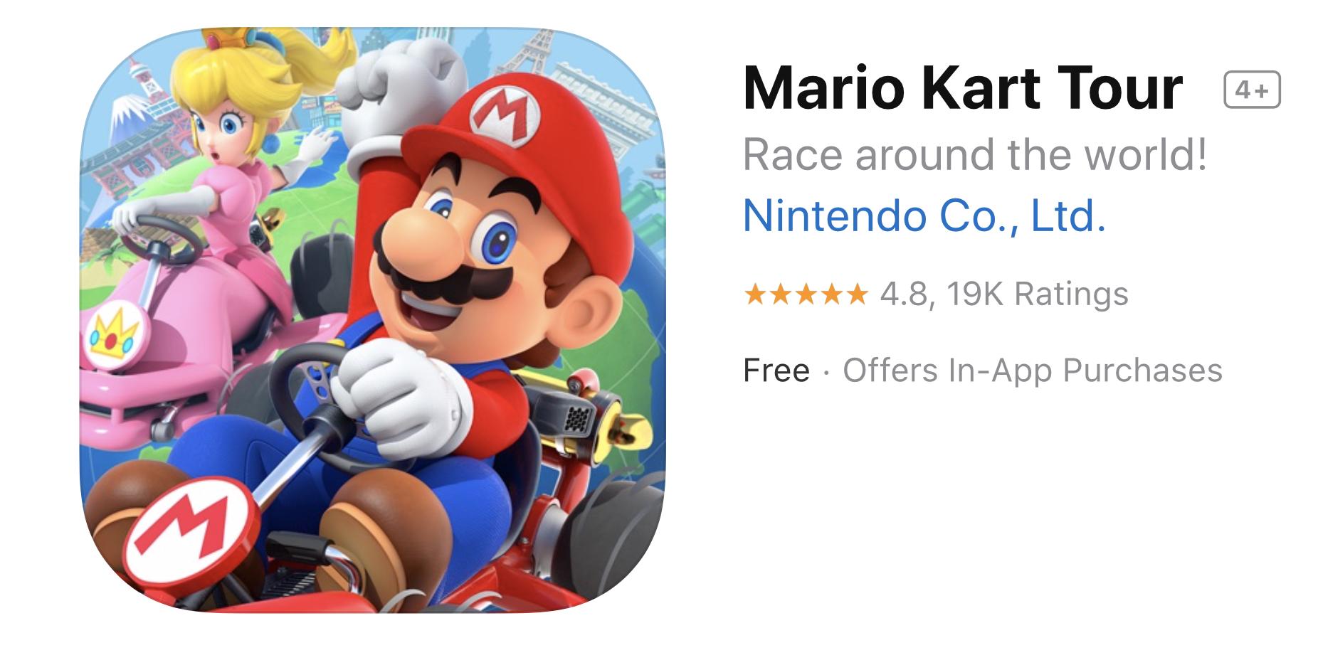 Megérkezett a Mario Kart Tour játék az AppStore-ba