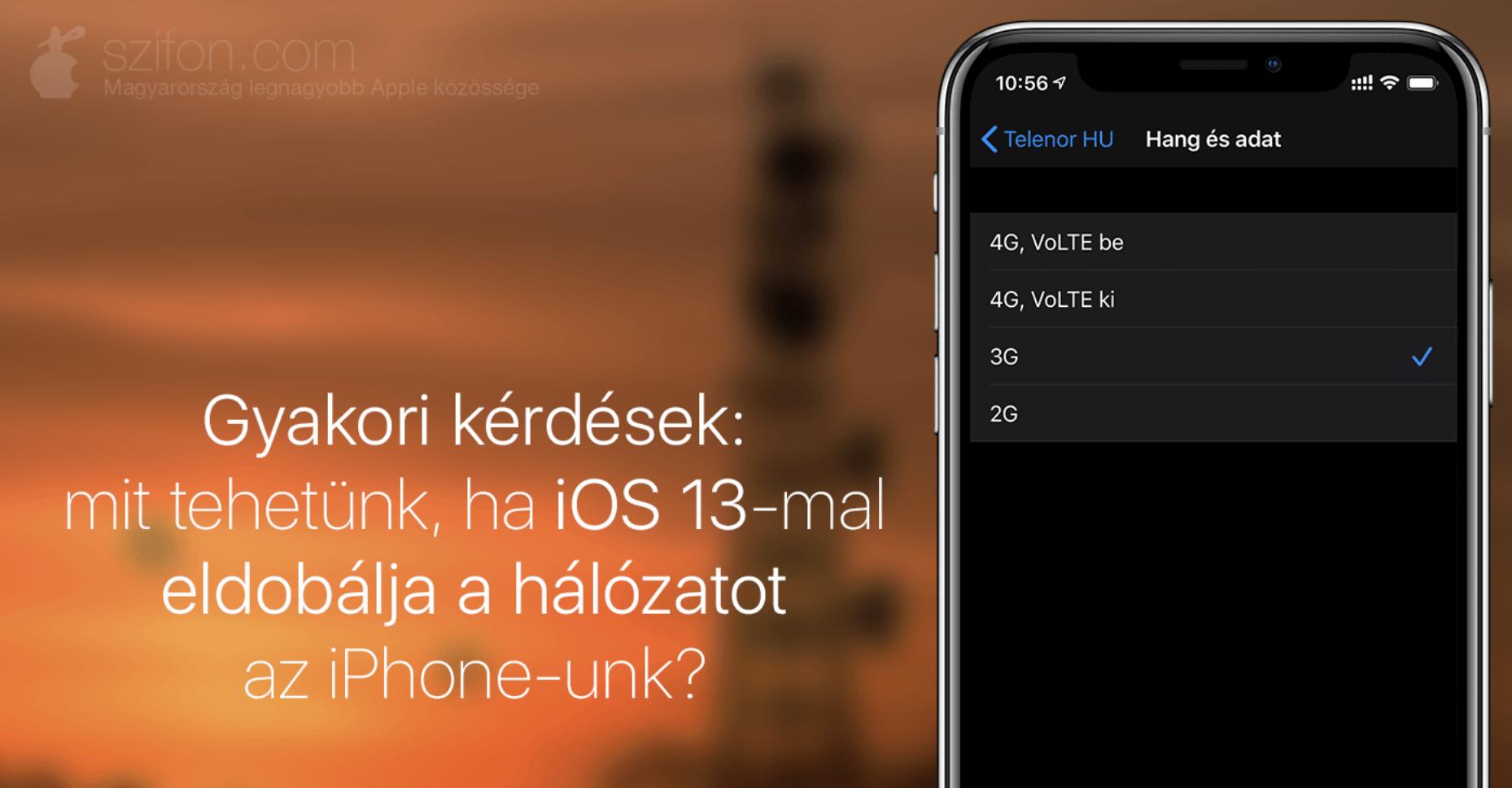 Több felhasználó is hálózati problémákra panaszkodik az iOS 13 telepítése után