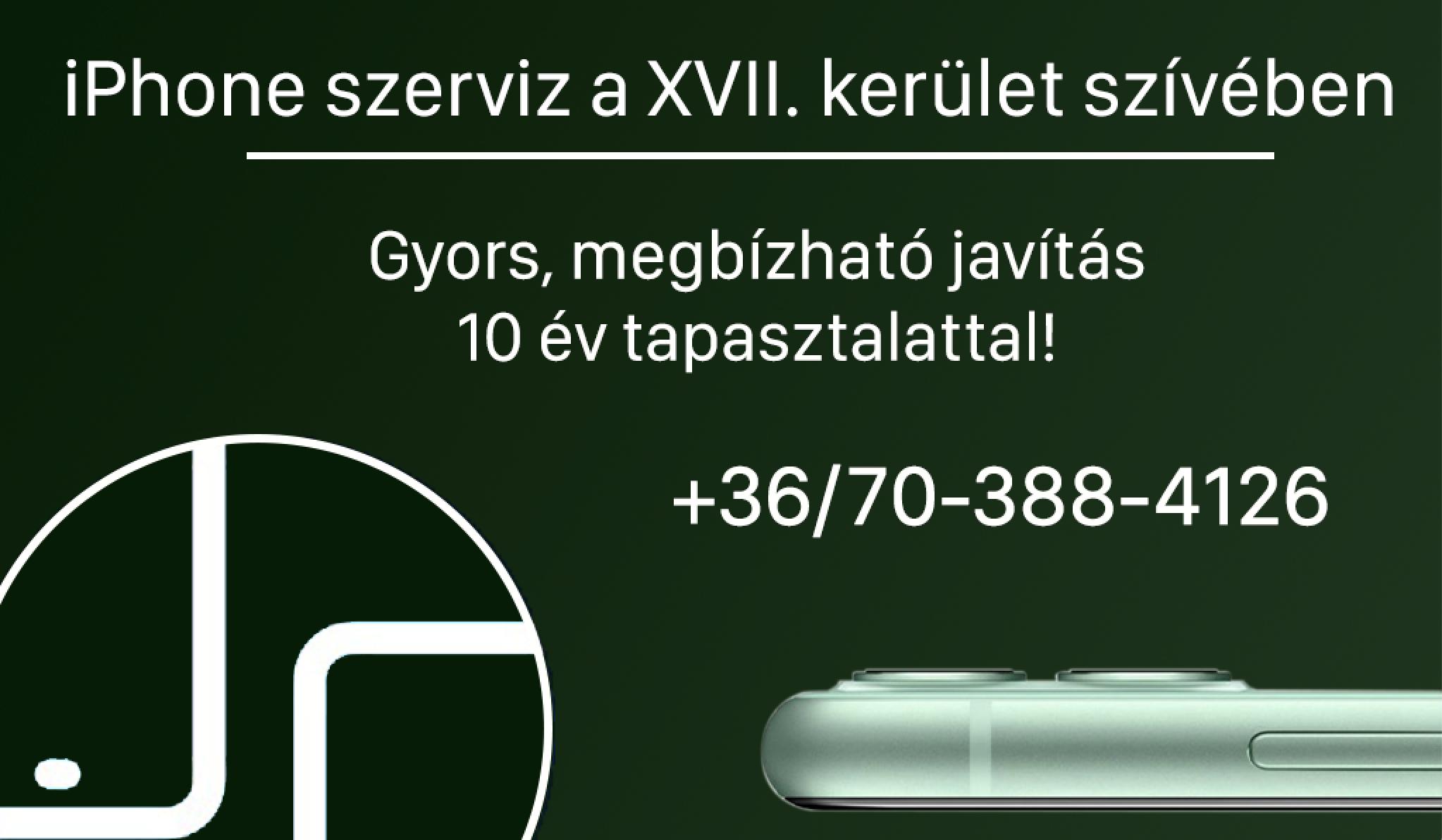 iPhone szerviz: ha a 16-17. kerületben laksz, ne is menj tovább!