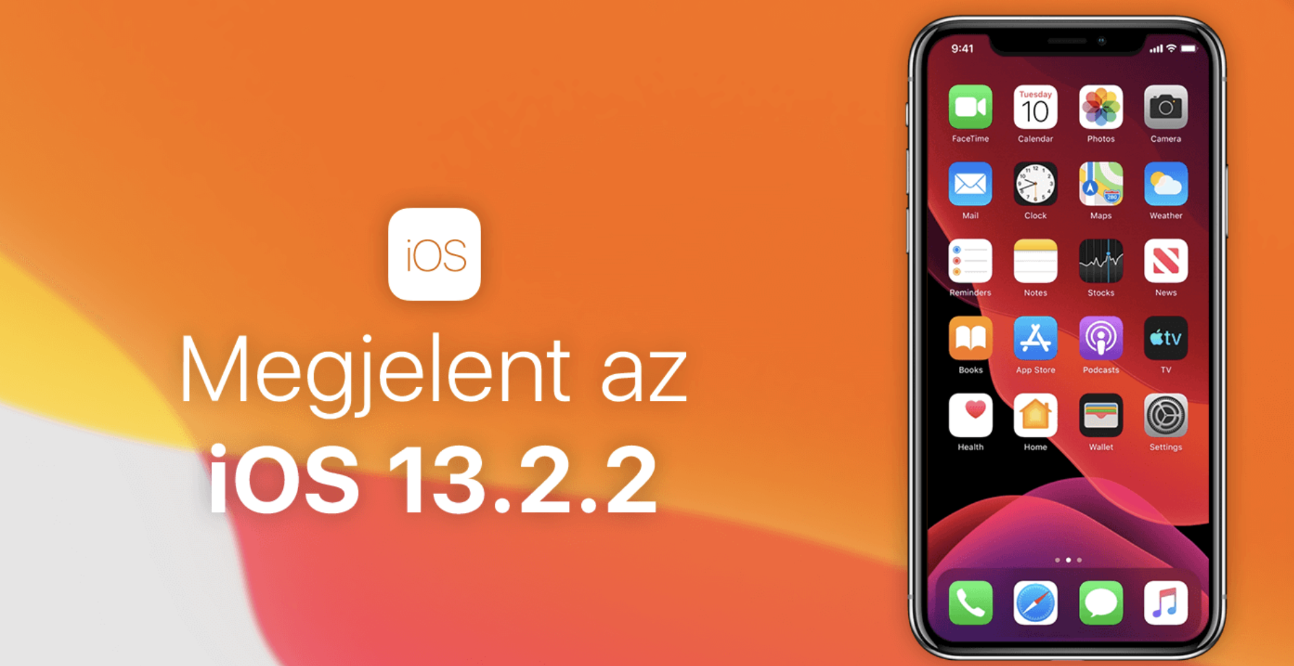 Megérkezett az iOS 13.2.2 - Az Apple végre javította a hálózati problémát