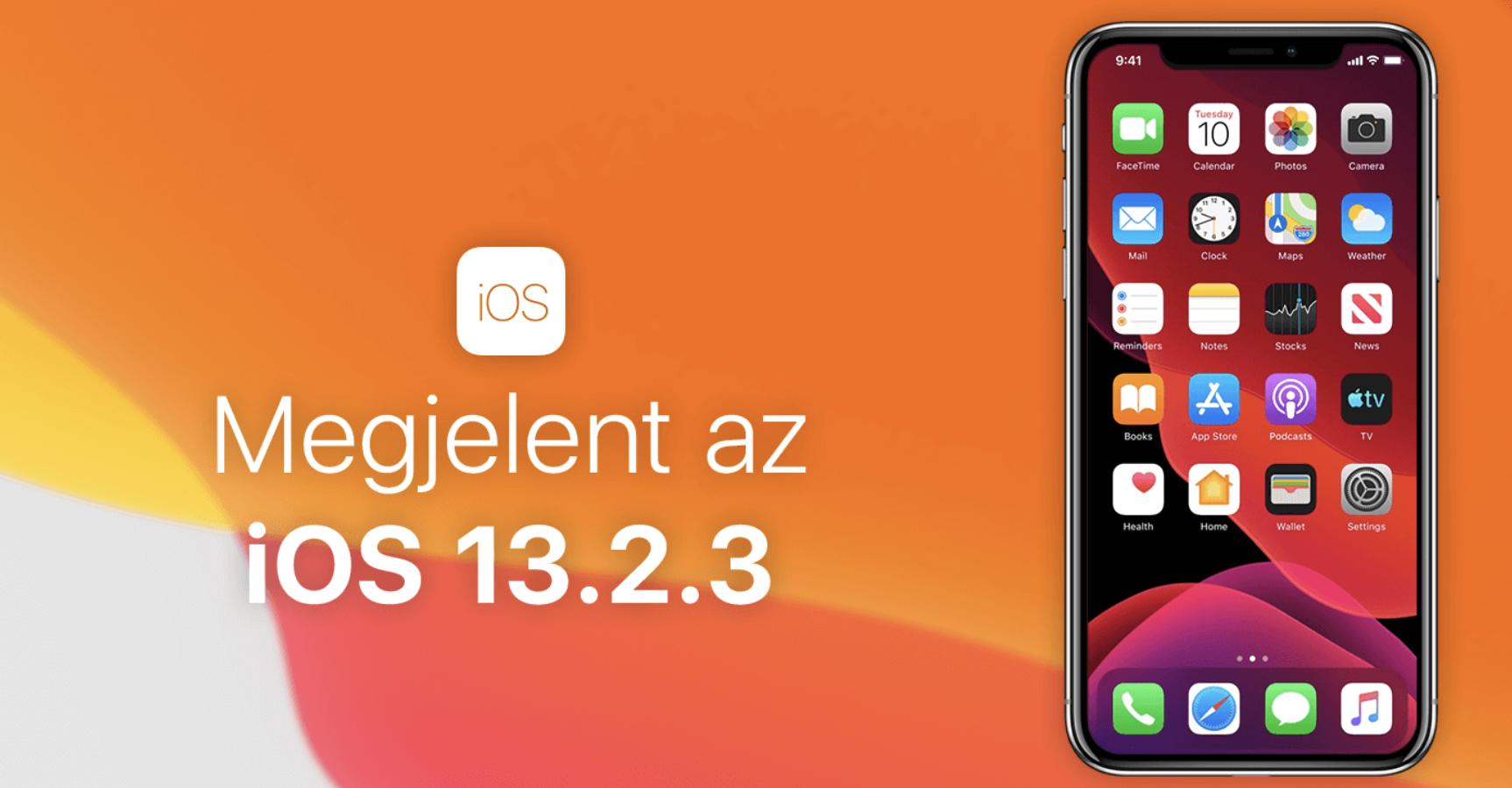 Letölthető az iOS 13.2.3