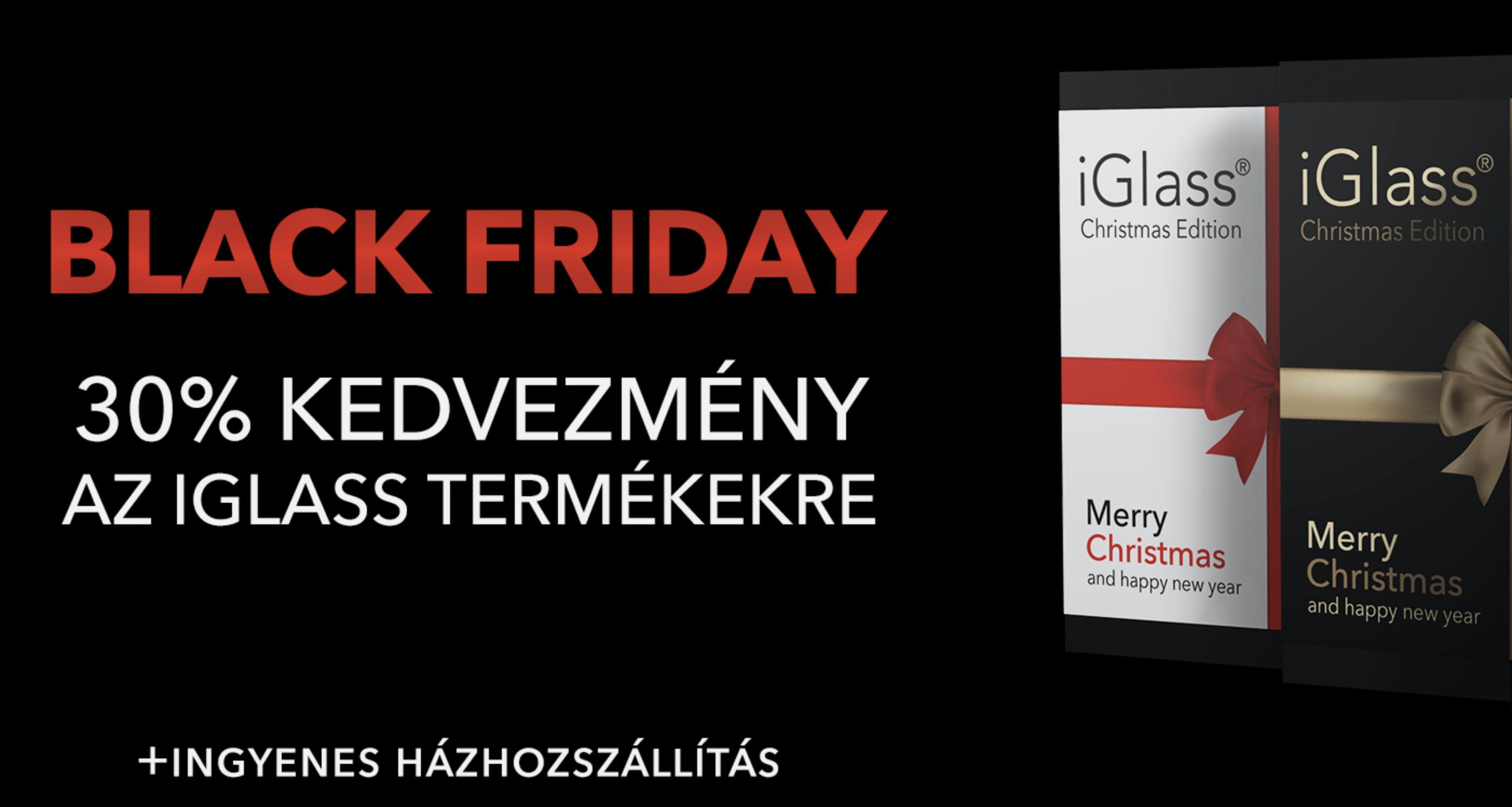 Black Friday az iGlass-nél: szerezd be kedvenc kiegészítőidet 30% kedvezménnyel!