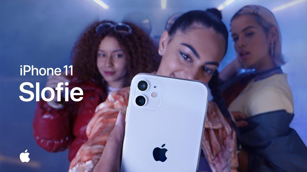 Slofie-t bemutató videók az Apple-től